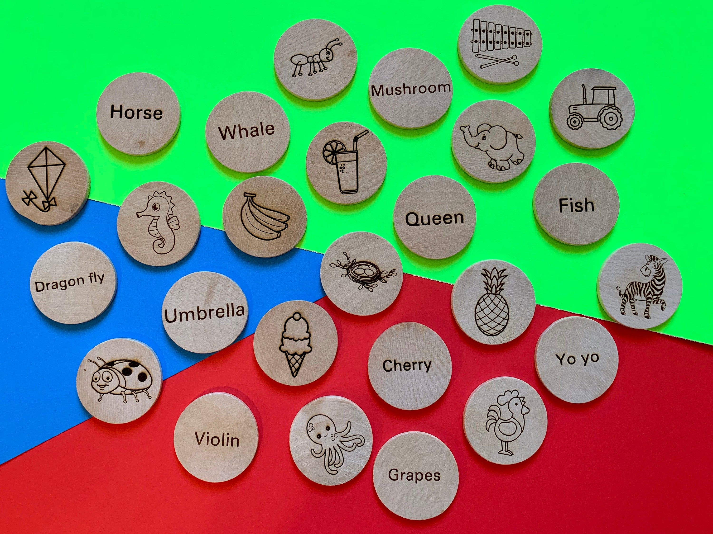Wooden Alphabet Discs Early Learning Tool With Alphabet Word Image By Otbhandmade On Etsy In 2021 Alphabet Words Learning Tools Early Learning [ 2249 x 3000 Pixel ]