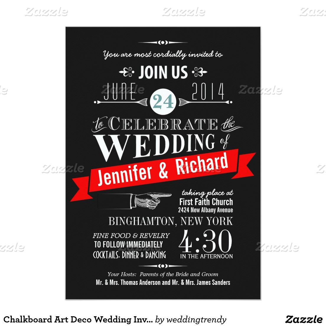 Chalkboard Art Deco Wedding Invitations | Pinterest | Wedding and ...