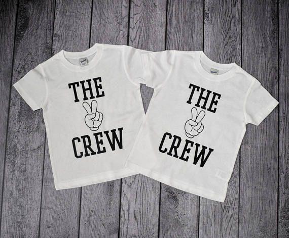 The 2 Crew 2nd Birthday Shirt Year Old Shirts Twin Boy Two Boys