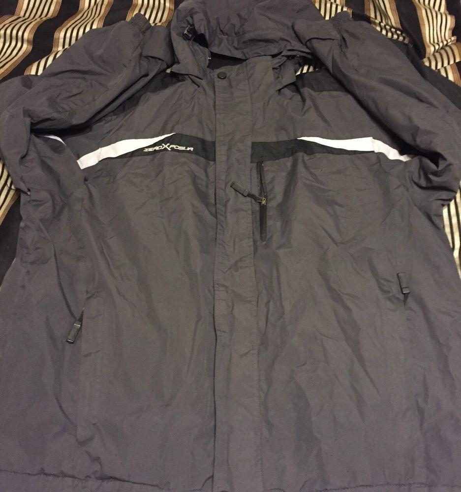 Mens ZeroXposur Evolution Captured XL Ski Jacket Coat Black Grey MP3 Pocket | eBay
