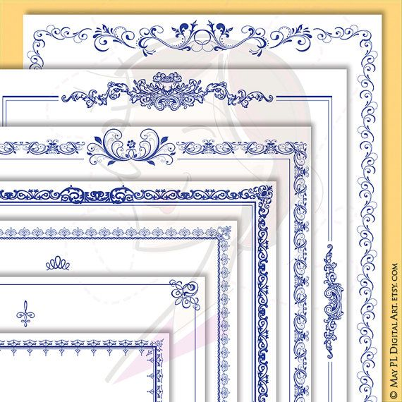 Navy blue borders 8x11 document page retro frames vintage french navy blue borders 8x11 document page retro frames vintage french ornate wedding clipart award certificate form diploma graphics vector 10605 yelopaper Choice Image