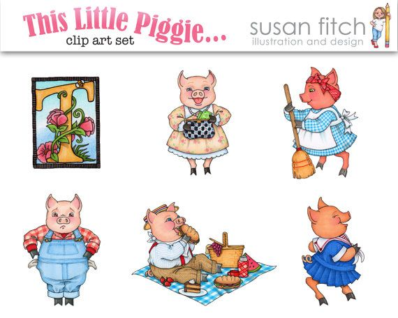This Little Piggie - Clip Art Set