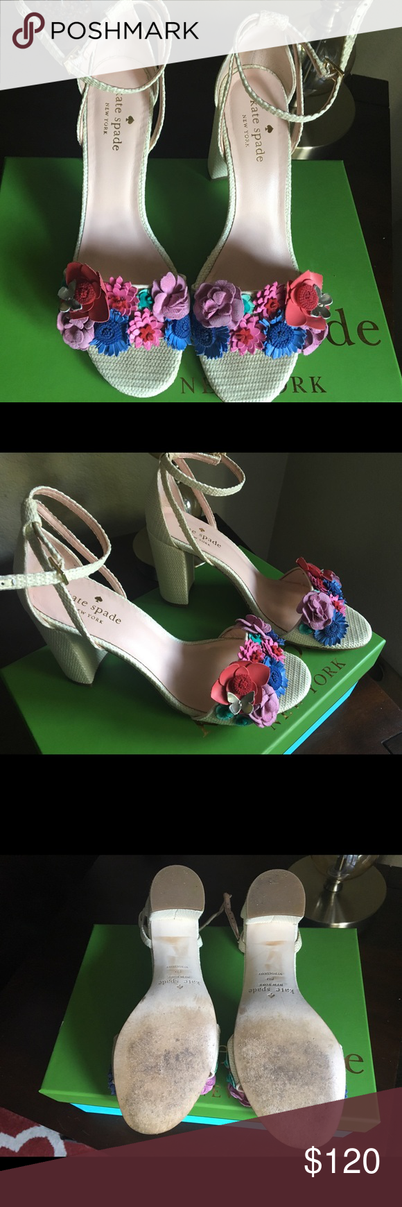 75bb9ff669a7 Kate Spade New York Obelli Dress Sandals Beautiful dress sandals great for  causal or special occasions! Only worn once to a wedding.