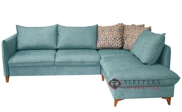 Luonto Flipper Chaise Sectional Queen Deluxe Sleeper Sofa Fabric