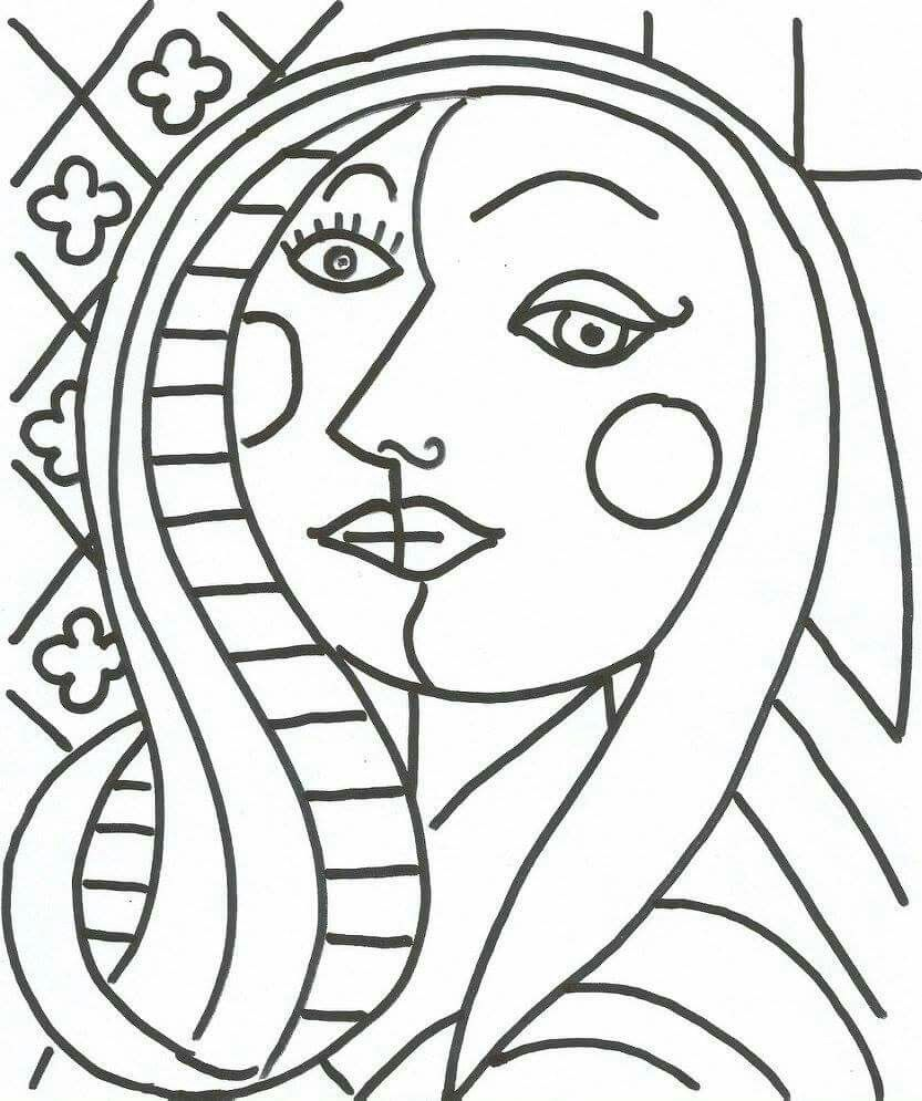 Image Result For Cubism Coloring Sheets Pablo Picasso Art Picasso Drawing Picasso Art