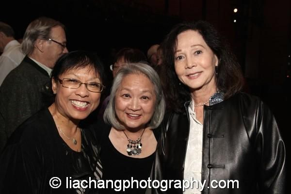 Baayork Lee, Virginia Wing and Nancy Kwan at the New-York Historical Society on October 15, 2014. Photo by Lia Chang