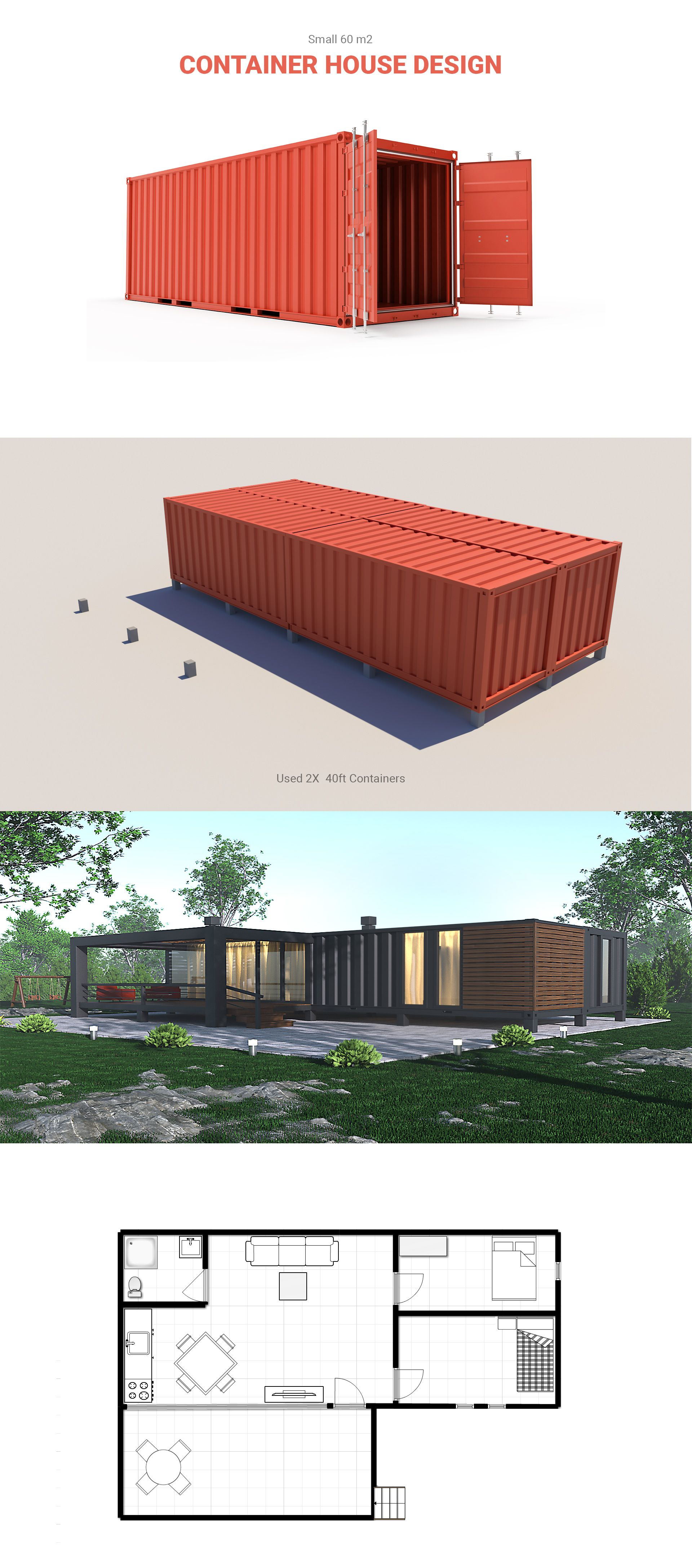 Container House on Behance   Cotage house   Pinterest   Container ...