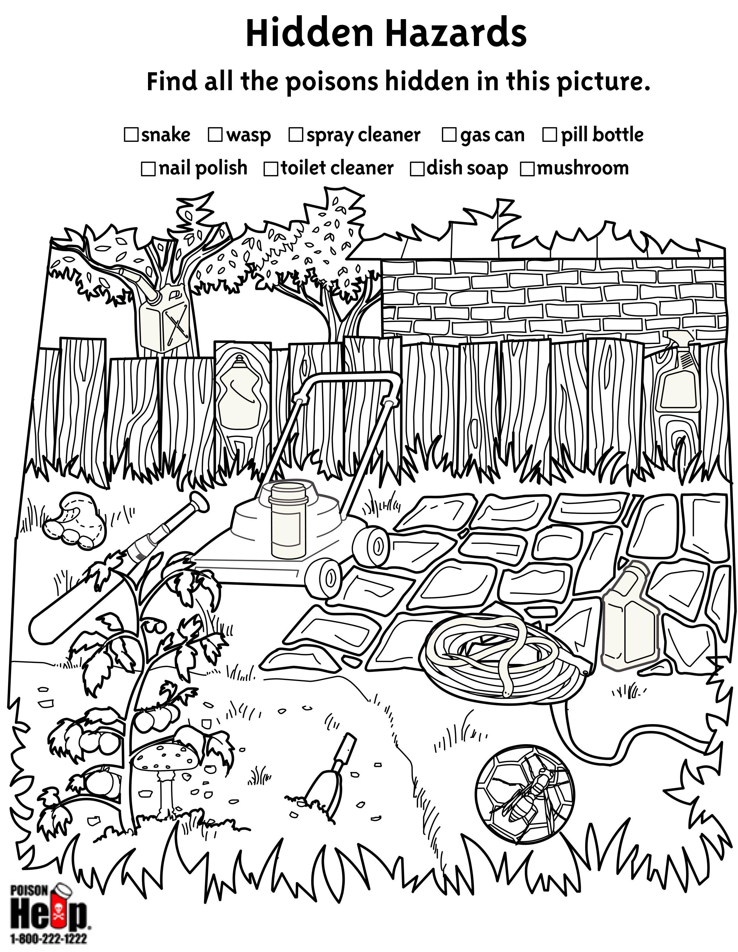 Help kids find the hidden poison hazards in this activity ...