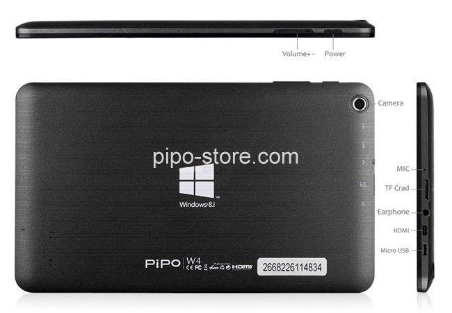 PIPO W4 Windows 8.1 Tablet PC Quad Core 8 Inch 1280x800 IPS HDMI OTG Bluetooth WIFI 1GB 16GB Black - Buy PiPO Tablet #tabletism_pk
