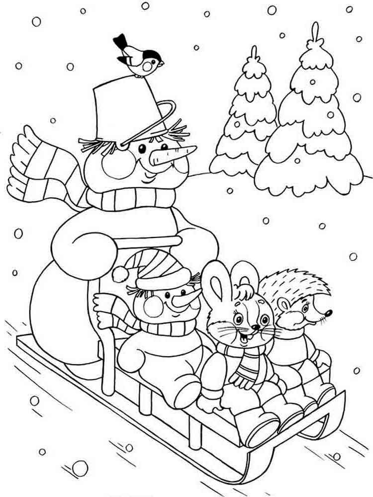 Winter Coloring Pages Coloring pages winter, Christmas