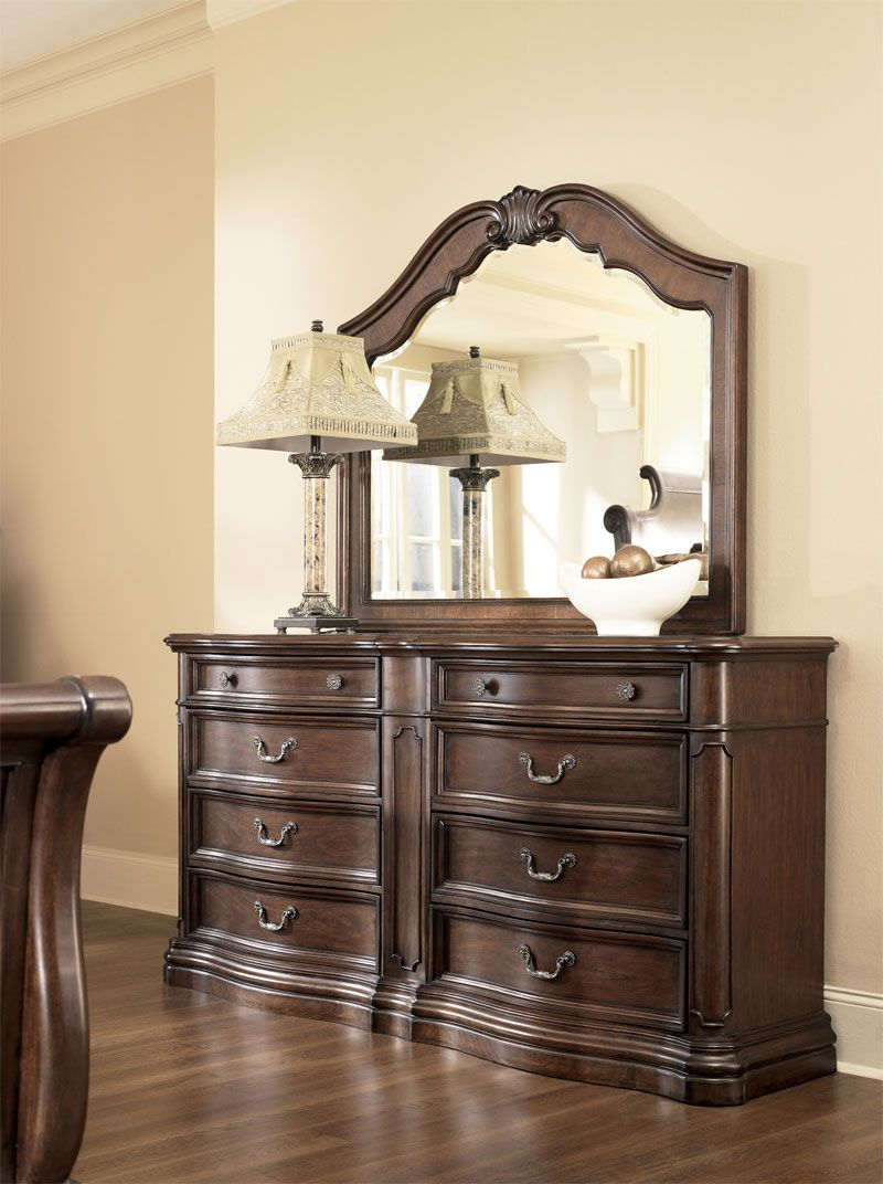 819 99 Millennium Camilla Brown Cherry Stain Finish Dresser B622 31 With A Rich Finish And Ornate Details The Camil Elegant Furniture Home Decor Furniture