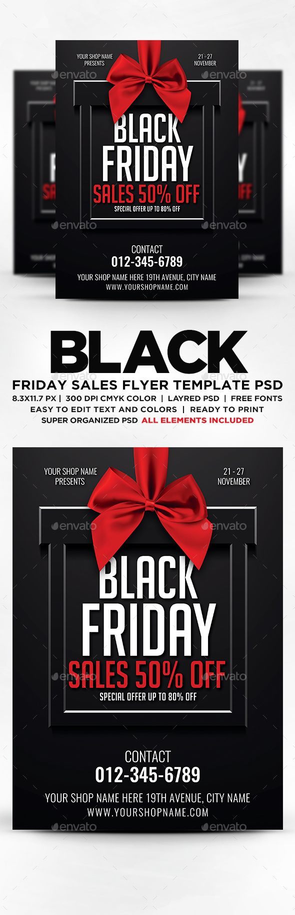 Black Friday Flyer — PSD black friday flyer