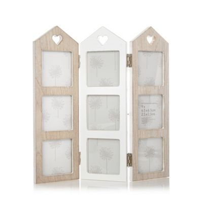 Debenhams Wooden folding house multiple photo frame- at Debenhams ...