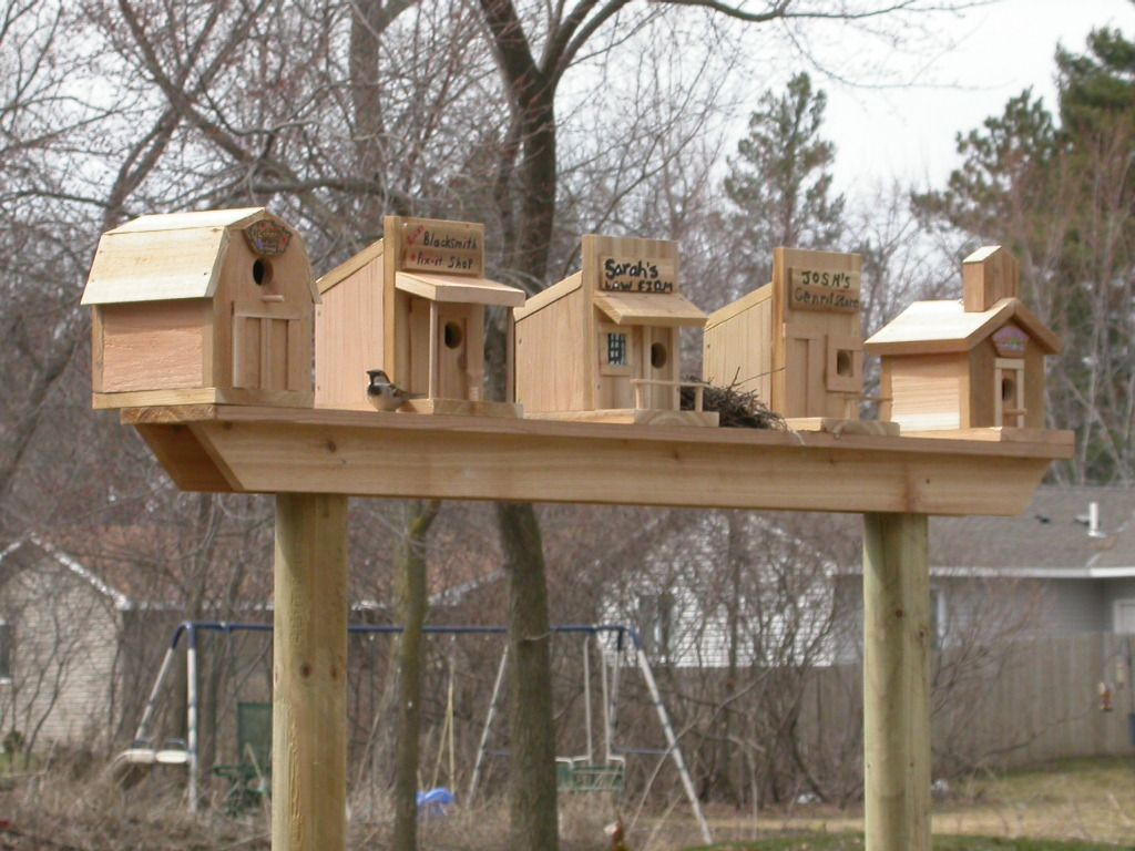 Rustic Birdhouses Bird Houses Cool Idea Maybe My Fence Line Will Work For This
