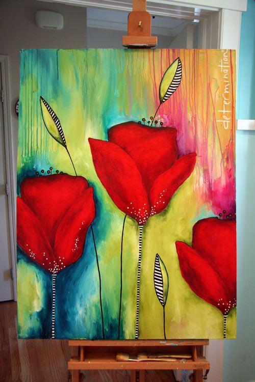 Canvas Transformation Before After Abstrakte Malerier Malerier Og Abstrakt