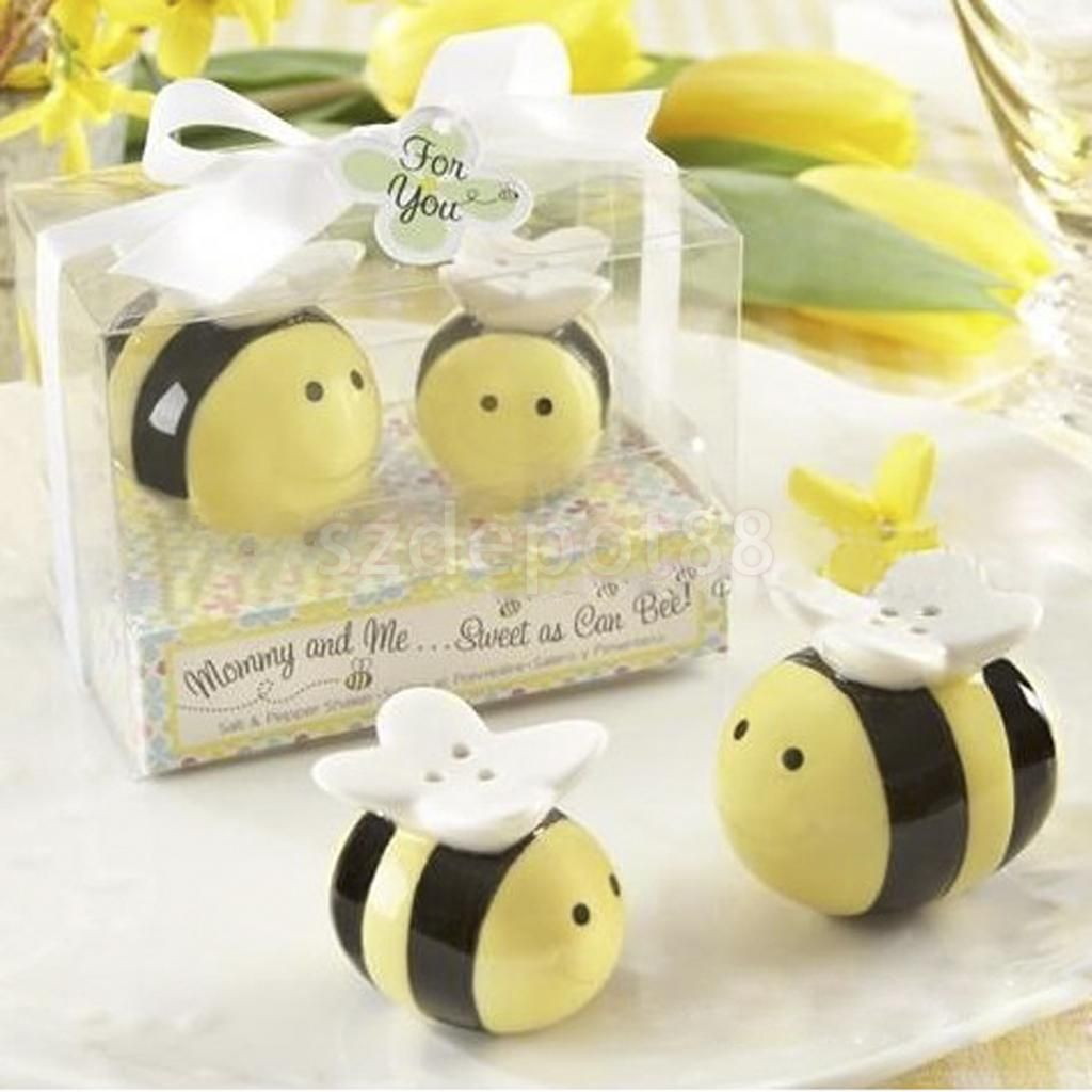 $4.03 - Wedding Bomboniere Favors Shower Gift Ceramic Bees Salt ...