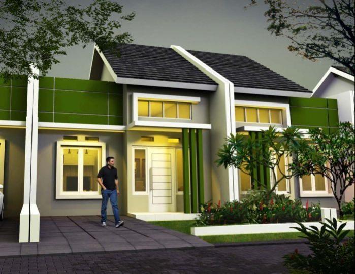 Desain Rumah Minimalis Yang Islami  kombinasi warna hijau rumah minimalis fasad desain
