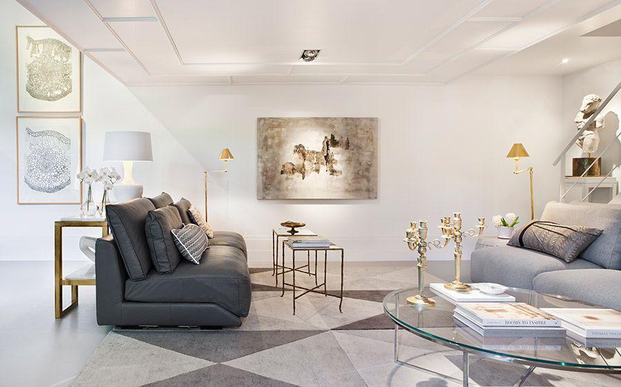 Sal n sala de estar juego de tonos neutros y diferentes for Desarrollar una gran sala de estar