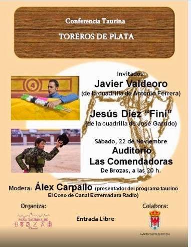 Toros en Extremadura: Conferencia Taurina en Brozas.