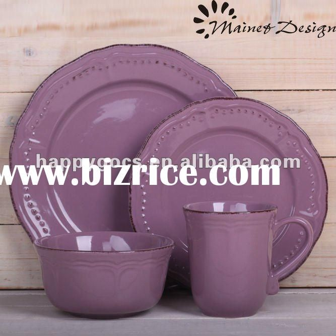 embossed solid color dinnerware set / China Dinnerware Sets for sale & embossed solid color dinnerware set / China Dinnerware Sets for sale ...