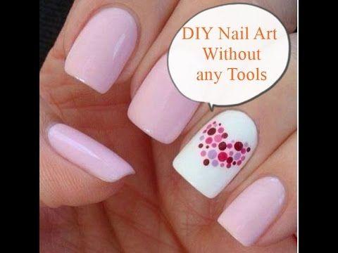 Diy Nail Art Without Any Tools Nail Art Designs Easy Nail Art For Beg Diy Nail Designs Diy Nails Simple Nail Art Designs