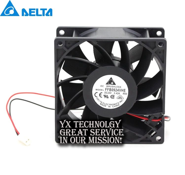 New FFB0924VHE 929238mm 9238 24V 042A Fan Drive For Delta