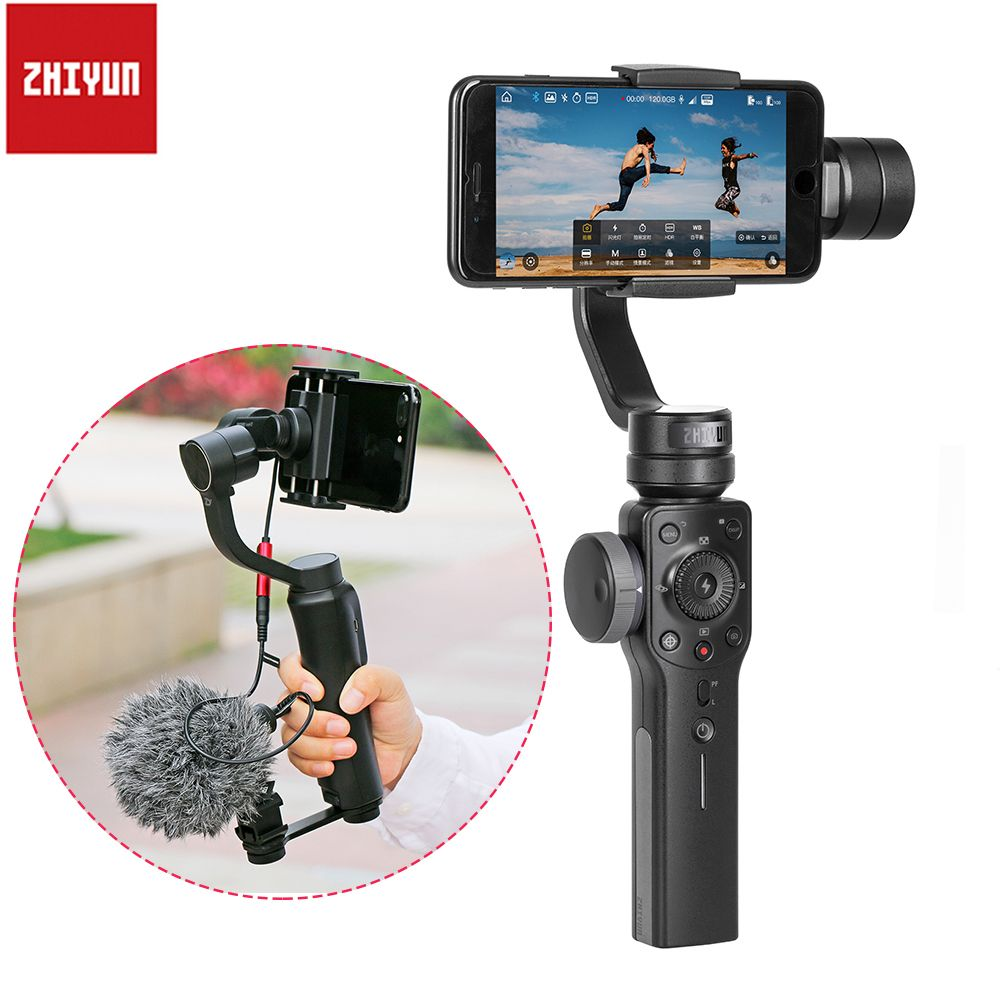 100% authentic 501f7 70607 Zhiyun Smooth 4 Handheld Gimbal Stabilizer Object Tracking Focus ...