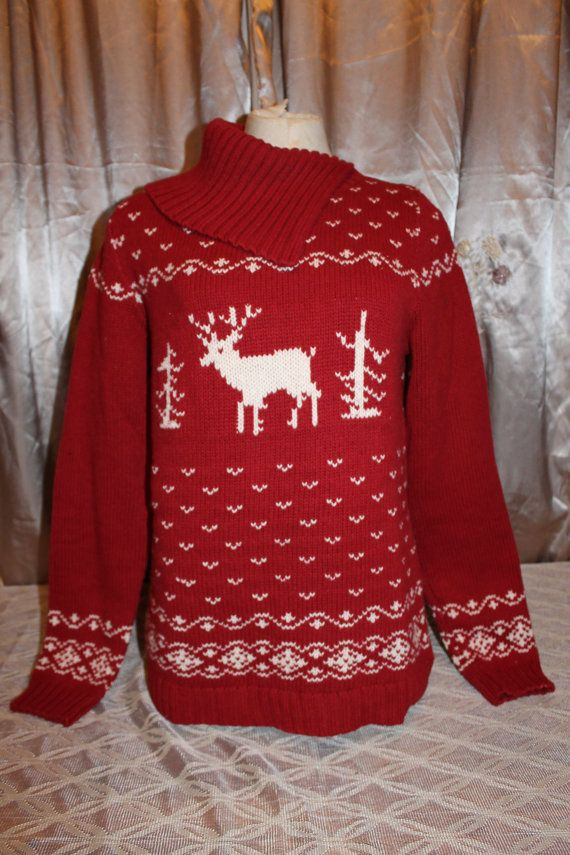 ugly christmas sweater party reindeer snow fold by revampdcouture 39 00