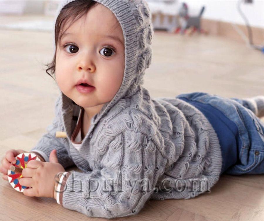 Жакет, штанишки и пинетки для малыша спицами | Детские ...