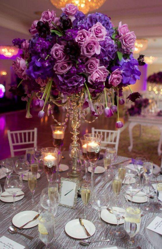 Elegant Purple Wedding Decorations