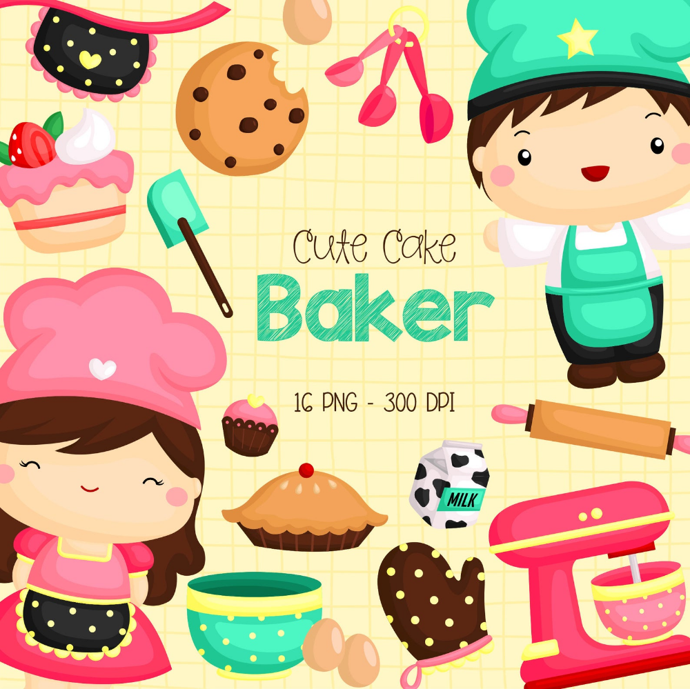 Bakery Studio Clipart Cookie And Sweets Clip Art Food And Etsy Clip Art Free Clip Art Cooking Clipart