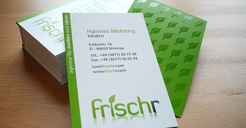 Frischr Is Fresher Business Cards Creattica Graphic Design