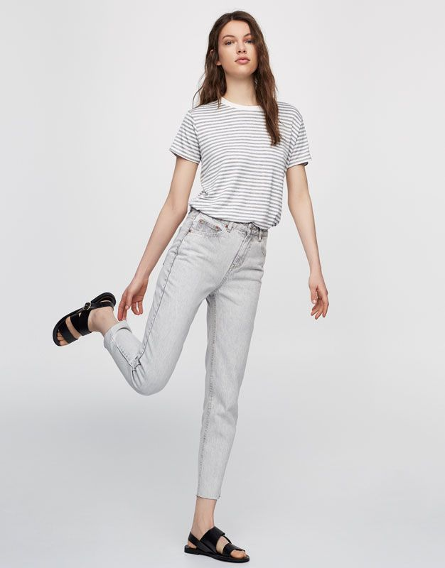 Mom fit jeans - Jeans - Denim - HIDDEN - PULL BEAR Czech Republic ... 32115fe2961
