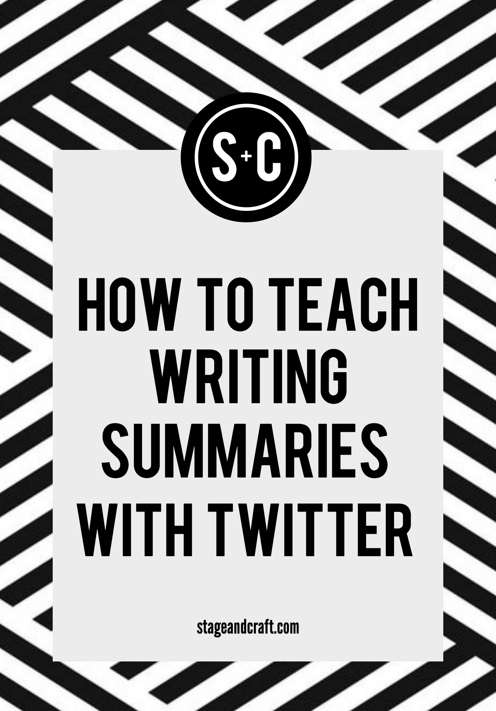 How To Teach Summarization With Twitter