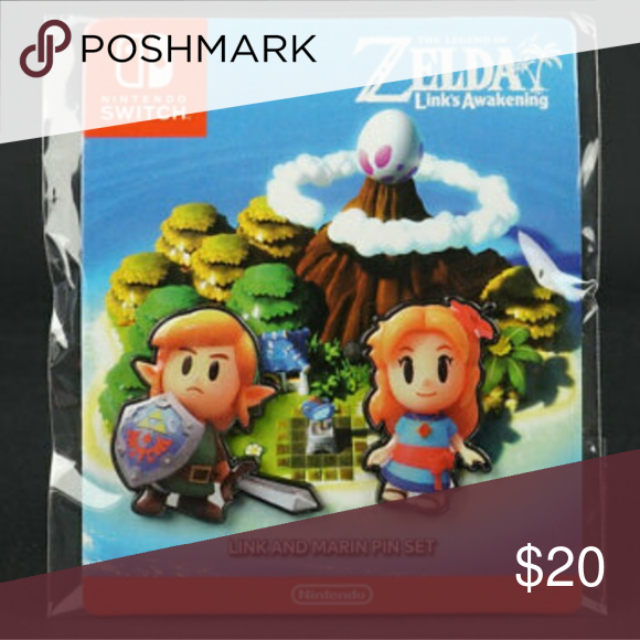 The Legend Of Zelda Link S Awakening Link And Marin Pin Set