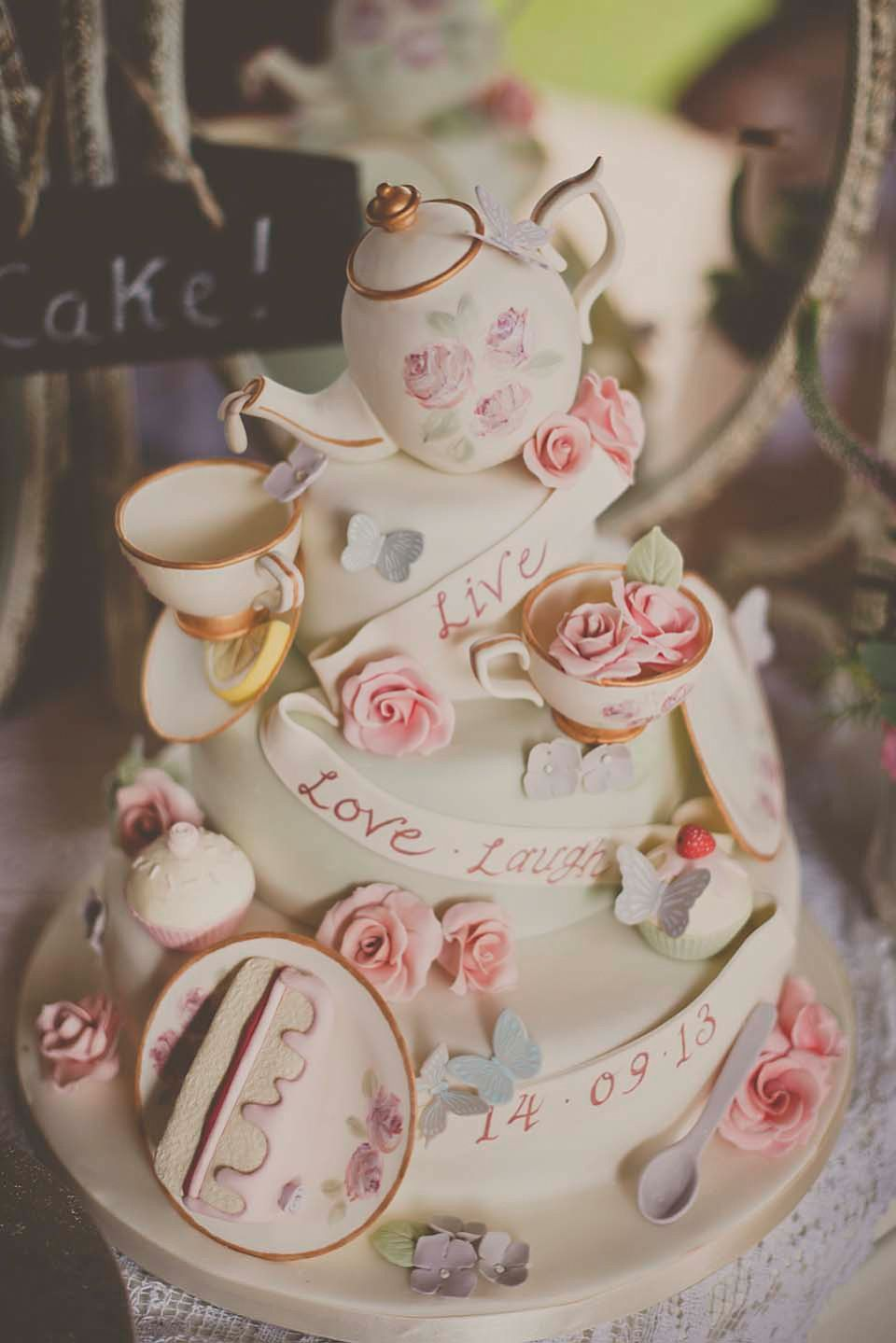 A Colourful Vintage Inspired And Ethically Sourced Wedding Love My Dress Uk Wedding Blog Wedding Directory Tea Party Cake Glamorous Wedding Cakes Afternoon Tea Wedding