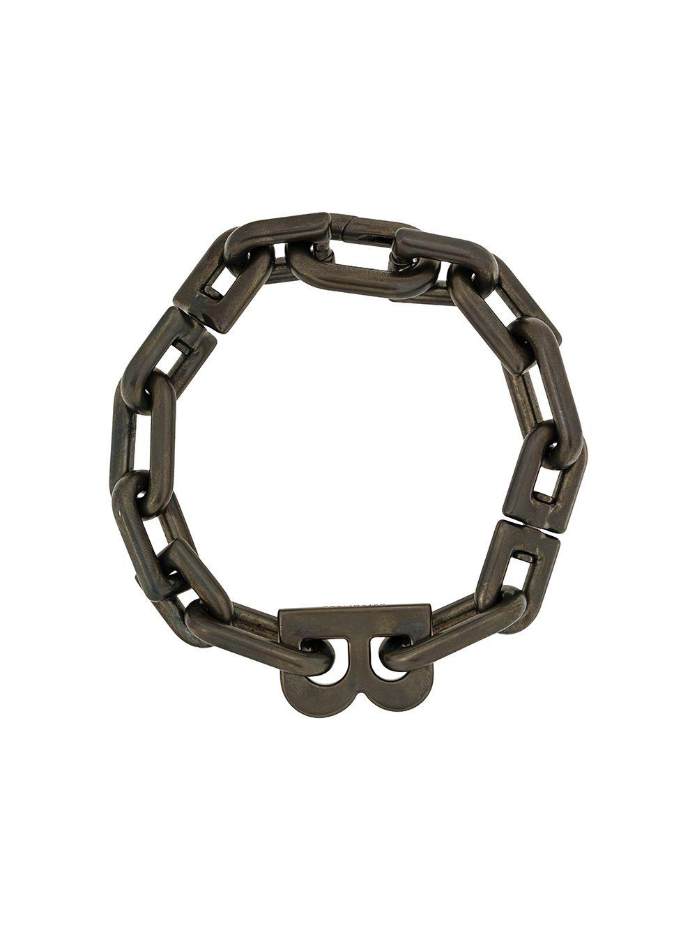 Balenciaga B Chain Bracelet Farfetch 2020 체인 팔찌 체인 목걸이 패션 위크