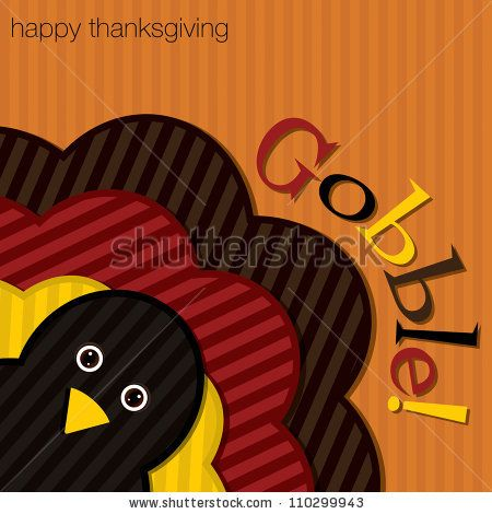hiding turkey corduroy thanksgiving card in vector format stock photo