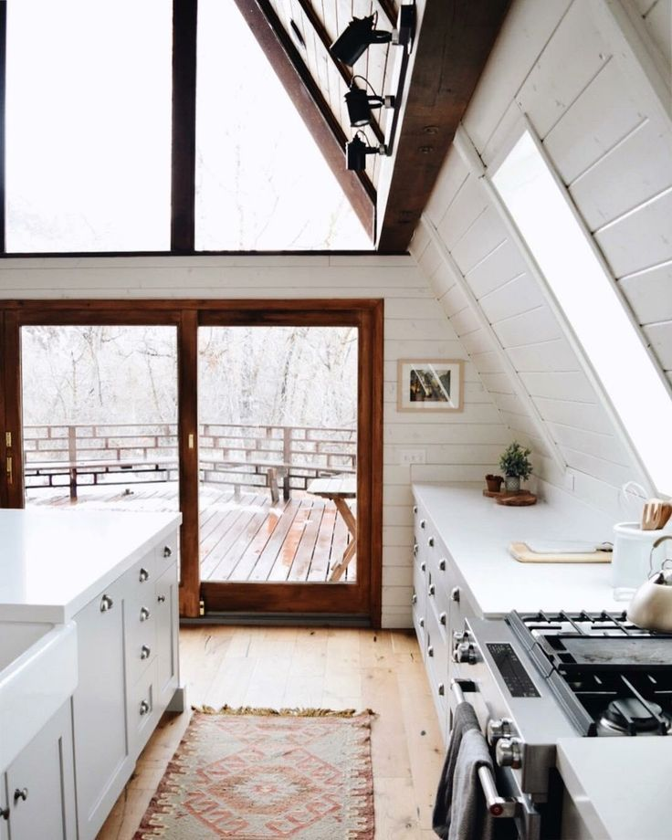 Pin By S L On Interior A Frame Cabin House A Frame House