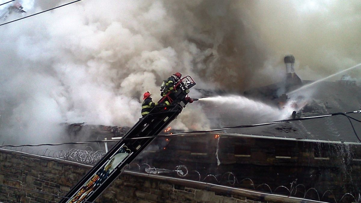SUNBURY -- Crews were called out Wednesday afternoon to battle flames at the Northumberland County prison. It broke out around 2:30 p.m. at the county facility in Sunbury. Images sent to PhotoLink ...