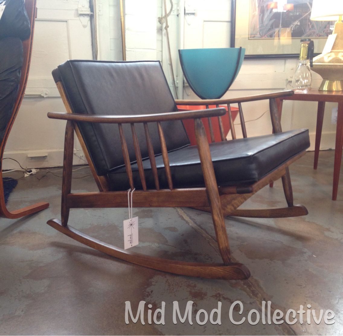 Rare, MCM lounge rocker. Available now at Mid Mod Collective. Email midmodcollective@gmail.com for more info. SOLD!
