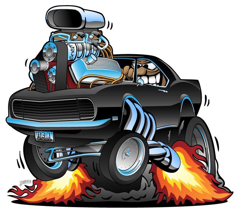 0961bec5 68 Camaro Classic Muscle Car Popping a Wheelie, Huge Chrome Engine, Crazy  Driver, Cartoon Vector Illustration #musclecar #hotrod #camaro #classiccar  ...
