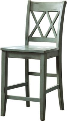 Ashley Mestler Blue Counter Stool