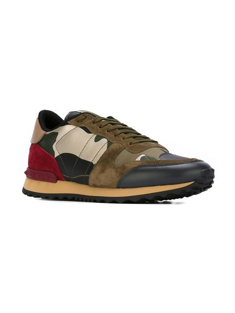 96433594953ac6 Valentino  Rockrunner  camouflage sneakers Valentino Garavani
