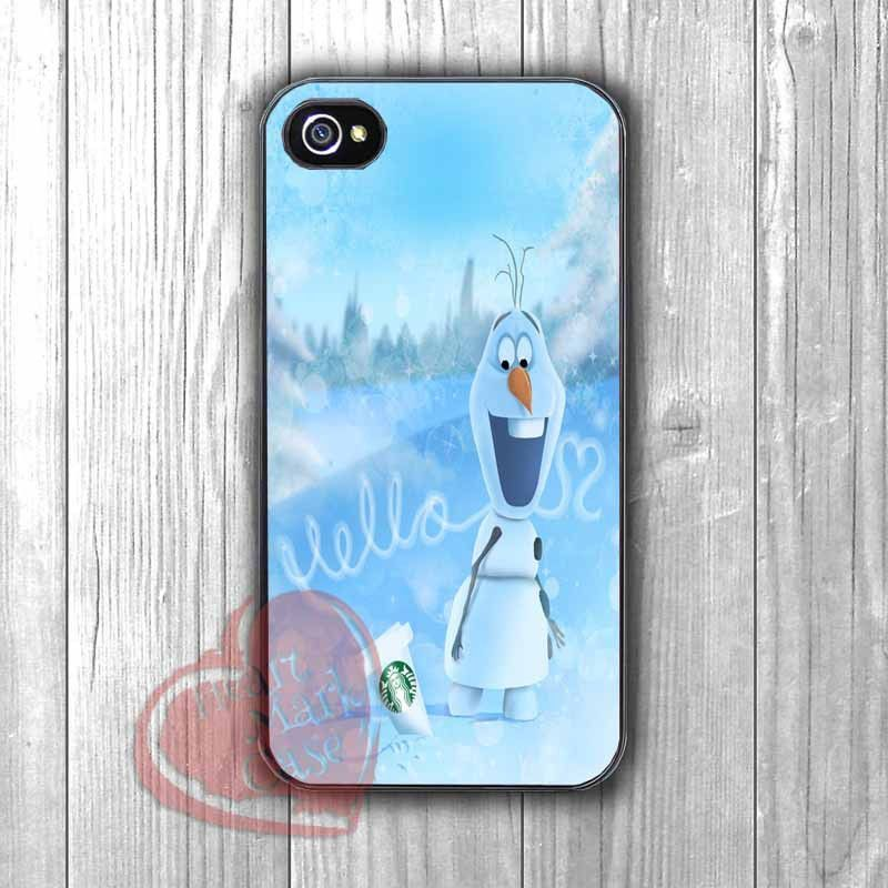 Olaf and Starbucks - dzzz for iPhone 6S case, iPhone 5s case, iPhone 6 case, iPhone 4S, Samsung S6 Edge