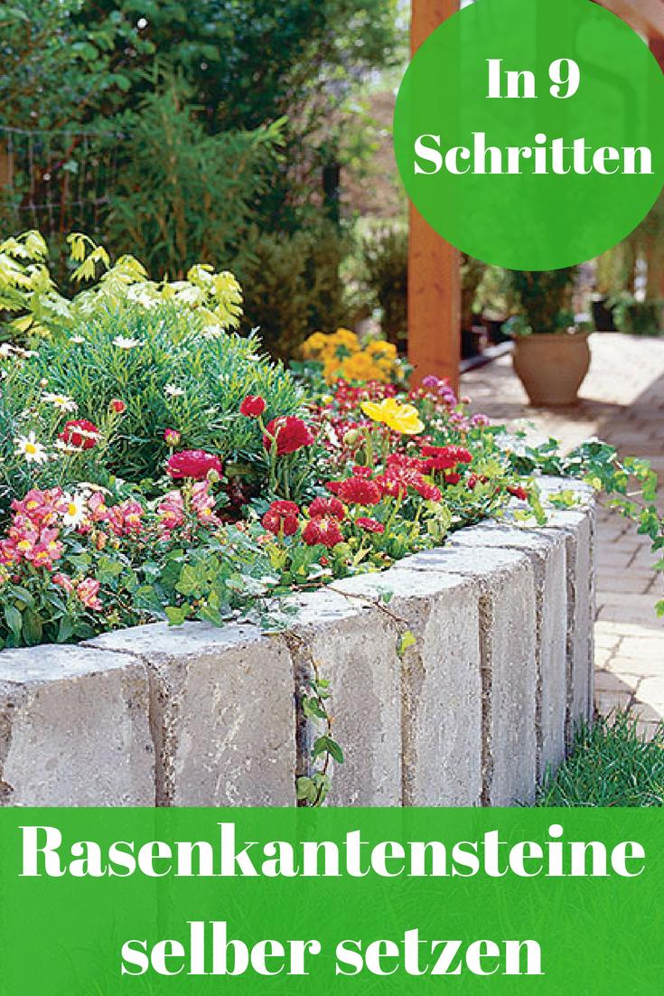 Rasenkantensteine Setzen Selbst De Rasenkantensteine Rasen Rasenpflege