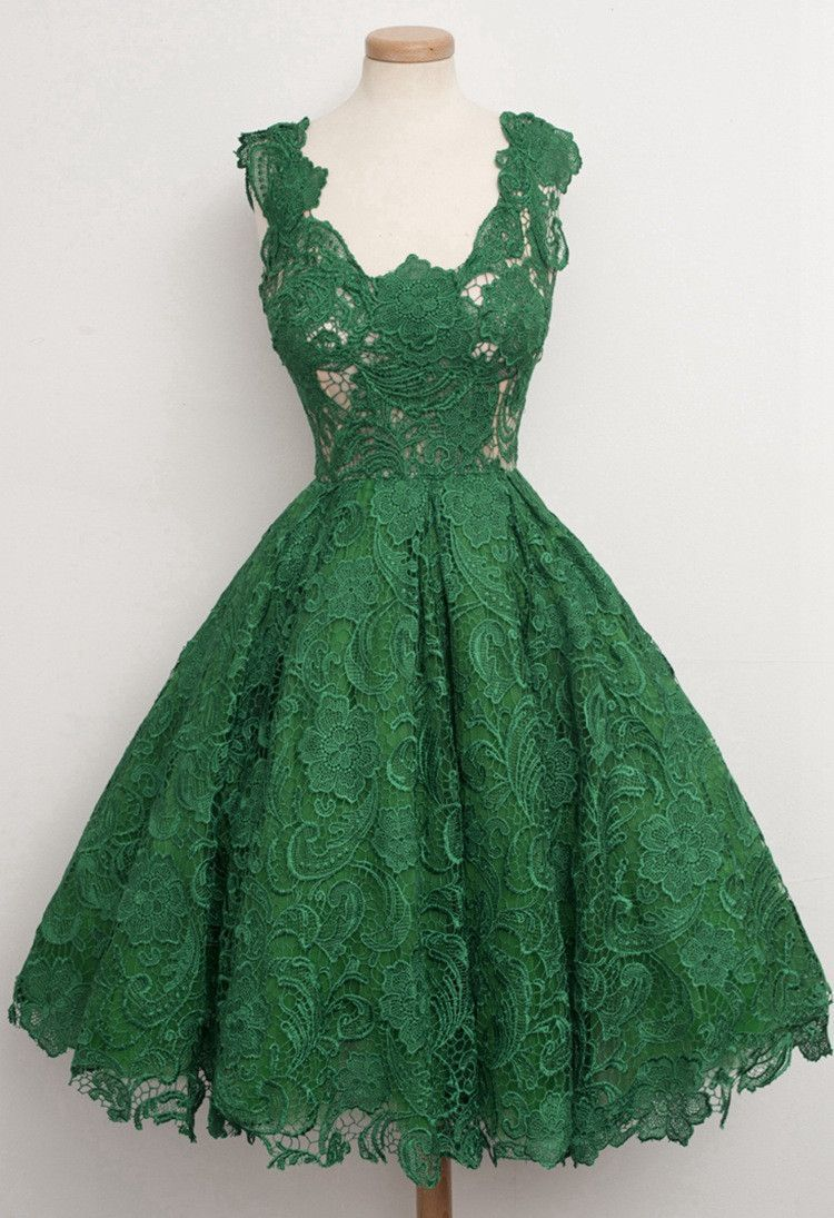 Green dress v neck  Lace Pure Color Sleeveless Vneck Long Dress  Prom Clothes and