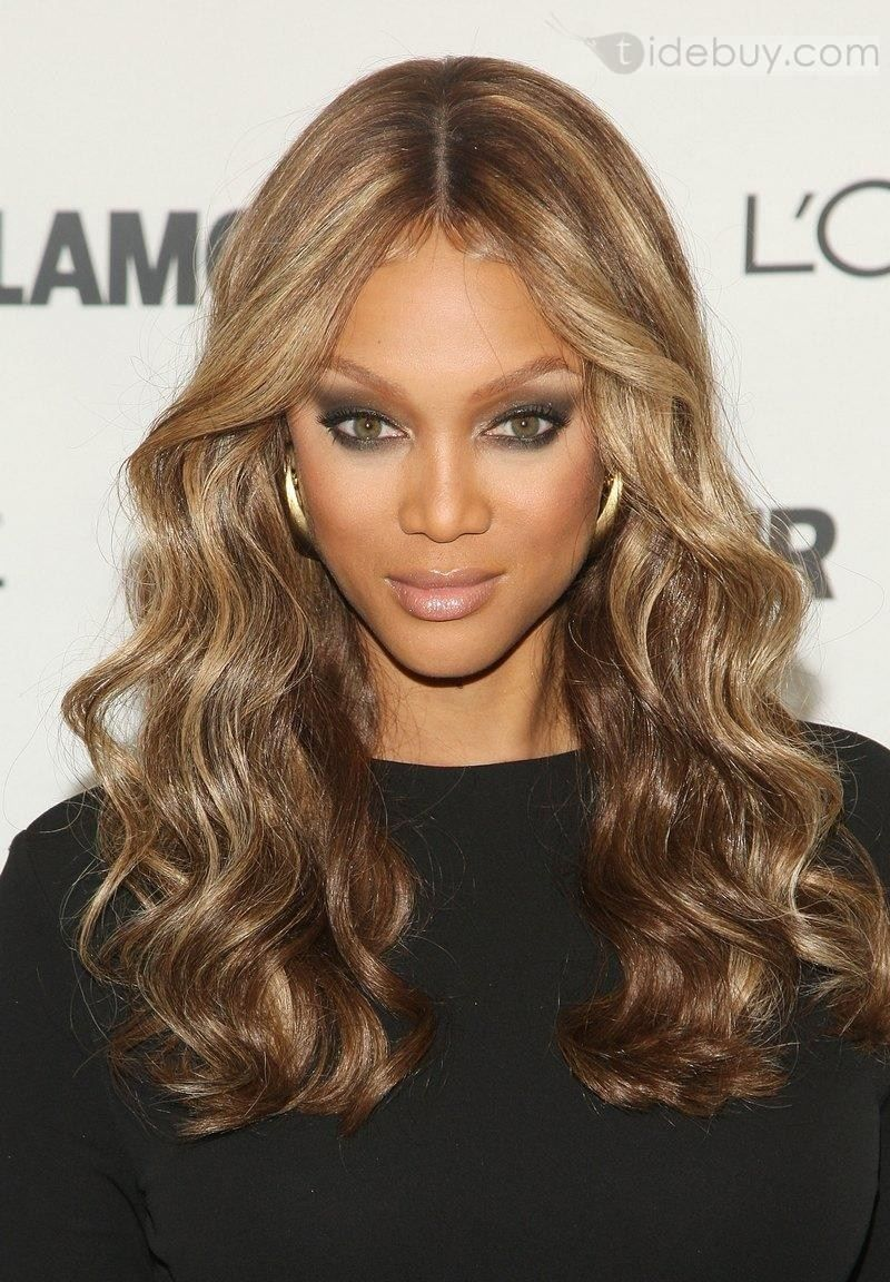 Tyra Banks Hairstyle Lace Wig 100 Human Hair About 22inches Wave Tidebuy Com Prom Hairstyles For Long Hair Hair Highlights Stylish Hair
