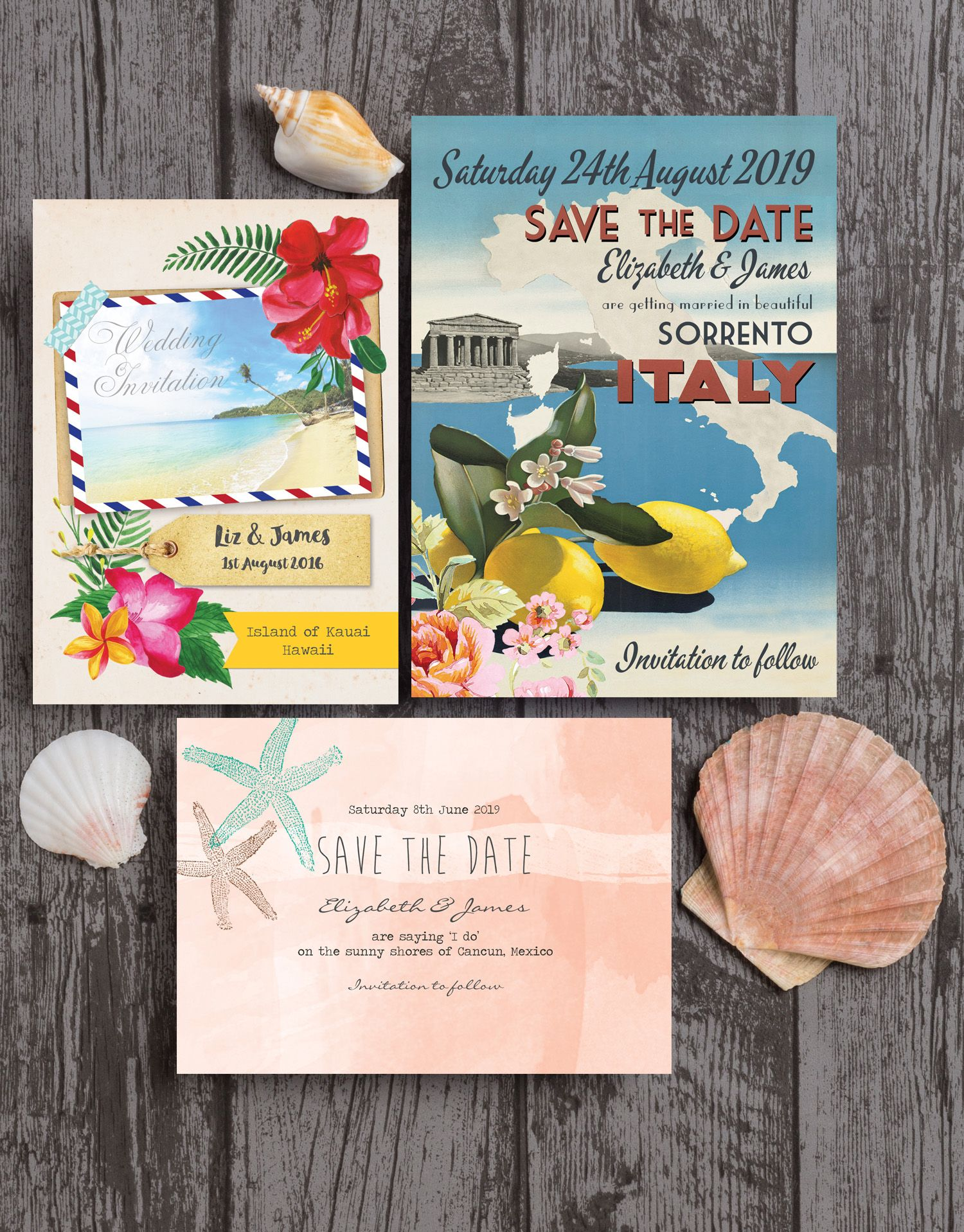 A stunning collection of destination wedding stationery The