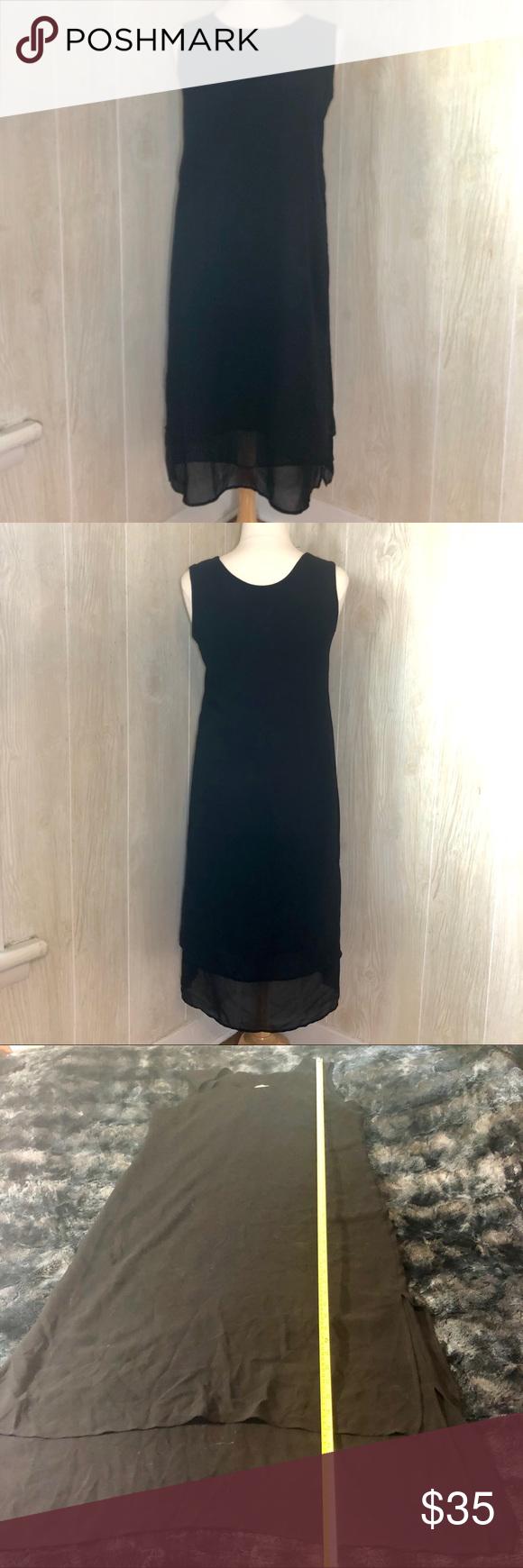 Coldwater Creek Black Layered Maxi Dress Size 14 Black Layers Size 14 Dresses Black Maxi Dress [ 1740 x 580 Pixel ]
